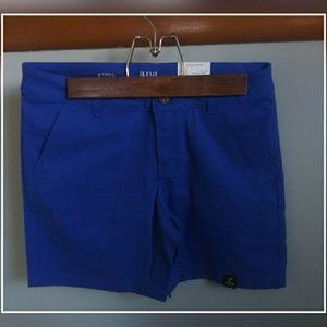 NWT A.n.a twill blue shorts size 4
